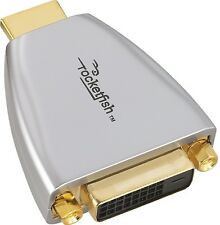Genuine Rocketfish DVI-to-HDMI RF-G1173 Adapter - Silver /Gold