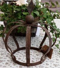 Krone Rost Metall Deko Shabby Vintage Landhaus Garten Eisen Blumenbeet