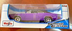 1/18 1969 Dodge Charger Purple Maisto **Die cast  New Rare Find ** MOPAR