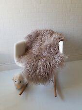 Luxury Curly long ,soft wool Icelandic Sheepskin rug Scandinavian 100% natural