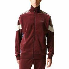 Adidas Men's Originals CLR84 Challenger Velour Track Jacket, Maroon BR2284 Large
