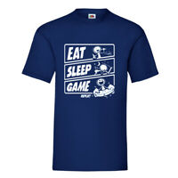 Eat Sleep Game Repeat Mens Crew Neck Funny Cartoon T Shirt S-XL Regular Fit Tees