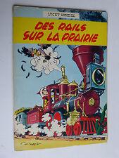 LUCKY LUKE n° 9 : des rails sur la prairie en réédition de 1964