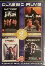 Classic movies (Dvd 2003) 4 Movies/2 Dvd's SHAWSHANK REDEMPTION/SHIVERS+MORE