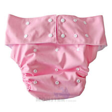 Adult Baby Cloth Nappy Costume or for INCONTINENCE Pretty Solid Pink PUL Diaper
