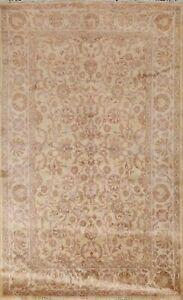 Vegetable Dye Ardakan Floral Oriental Area Rug Hand-knotted Wool Carpet 6'x9'