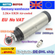 【EU】 2.2KW Air-cooled spindle motor ER20 220V 24000rpm For CNC Router Engraving