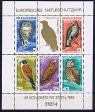 BRIEFMARKEN BULGARIEN BULGARIA MI-NR MICHEL BLOCK 105 TIERE VÖGEL 1980 **