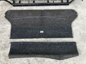 Vw Beetle Rear Seat Back Board With Original Squareweave Carpet And Flap.