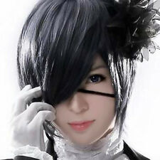 Black Butler Ciel Phantomhive Blue Gray Short Anime Costume Cosplay Wig Pop