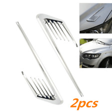 2pcs Euro Style Chrome Side Vent Car Air Flow Inake Fender Grille Decorative New