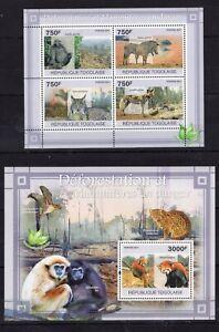 Togo - Wild Cats / Gorilla / Zebra / Monkeys - Timbres / stamps  - MNH** Del.5