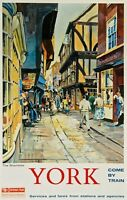 TX417 Vintage YORK Shambles Yorkshire British Railways Travel Poster A2/A3/A4