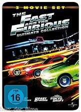 THE FAST AND THE FURIOUS 1-3 Ultimate Steelbook 3 DVDs NEU+OOP