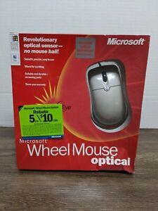 NEW Microsoft Wheel Mouse Optical IntelliEye Technology USB PS/2 Compatible X08