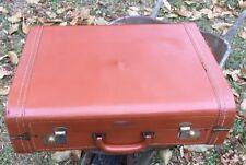 ANTIQUE LEATHER SUITCASE 24 x 18 x 8 Luggage Vintage