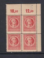 SBZ Mi-Nr. 97 A X ** postfrisch - 4er Block - Bogenecke / Eckrand
