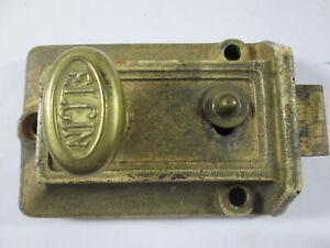 Vintage Elgin Brass Door Lock Antique Door Hardware
