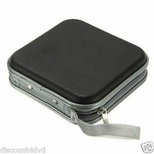 Black CD DVD 40 Disc Disk Case Sleeve Wallet Holder Storage Portable Plastic Bag