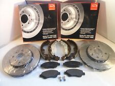 Peugeot 107 Front Brake Discs and Pads Set + Brake Shoes 05-15 *GENUINE OE APEC*