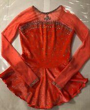 Del Arbour Custom Crystallization Ice Figure Skating Dress Child L, Adult Xs