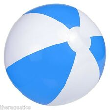 "BLUE WHITE 16"" INFLATABLE BEACH BALL Swim Class Festival Graduation Pool IBBLU16"