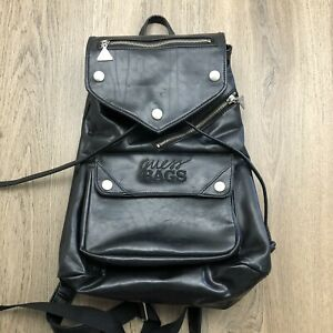 Vintage Guess Faux Leather Backpack Black 90s Guess Bags