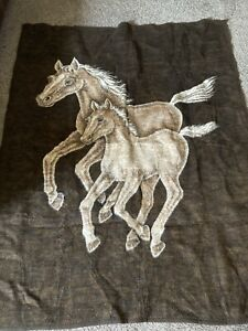 "~Safari Weavers horse pony throw blanket bedding 58"" wide X 74"" long"
