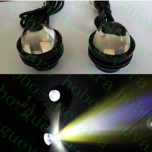 2x Vehicle High Power Car Golden Eye White 5W LED Projector Fog Light DRL Lamps