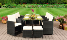 More details for cube rattan garden furniture set chair sofa table patio wicker 10 seater