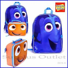 """Finding Dory Backpack 16"""" Large School Backpack Lunch Bag 2 in 1 Nemo"""