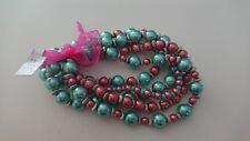 Turquoise & Dusky Pink Vintage Style Handmade Beaded Bracelet