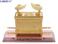 Jewish Gold Ark of the Covenant & Testimony on Copper Base Large Size Replica