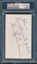 Steve Eisenhauer Navy Signed Index Card Autograph Auto PSA/DNA *85969