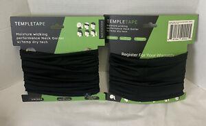TEMPLETAPE NECK GAITER W/ TEMP DRY TECH Multipurpose Lot Of 2