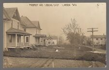 1913 Real Photo Postcard Larsen, Wisconsin Four Houses on Prospect Avenue