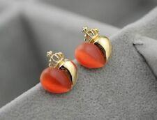 Opal Heart Stone Costume Earrings