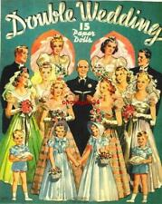 Vintage Uncut 1939 Double Wedding Paper Dolls~#1 Reproduction~Very Rare/Scarce!