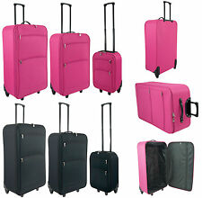 Lightweight Luggage Travel Suitcase Large Trolley Cabin Case Wheeled Set of 3