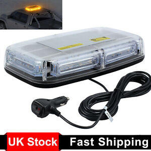24 LED Car Roof Recovery Light Bar Amber Warning Strobe Flashing Beacon Magnetic