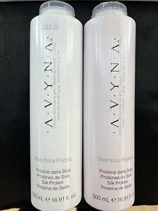 Avyna Shampoo Platino & Maschera platino/ silk protein 16.91fl Oz each