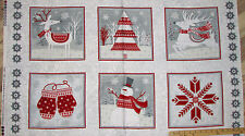 "Frosty Floks Snowman Panel FLANNEL Christmas Fabric Panels 23""  F6737P"