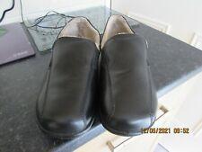 New Black Leather Hotter Relax Slippers U.K.11Std Eu46Std Fleecy Comfortable