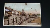 Clock Tower and Esplanade, Weymouth - Wade's Sunny South Series Postcard