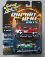 Import Heat 2004 Mitsubishi Lancer 2000 Civic JOHNNY LIGHTNING DIE-CAST 1:64