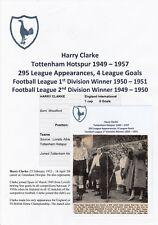 Harry Clarke Tottenham Hotspur 1949-1957 RARA ORIGINALE AUTOGRAFATO giornale di taglio