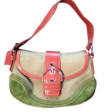 Small green Coach purse