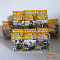 The Walking Dead 8 pcs Figures Cake Topper / Brick Block Building Toy Party Gift