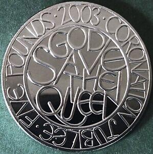 Stunning, Proof, 2003 'Coronation - 50th Anniversary' UK Five Pound, £5 Coin.