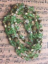 Swarovski Green Crystal 5 Styled Beaded Stretch Bracelets